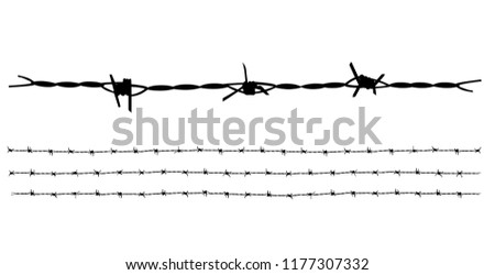Barbed wire vector collection ideal for decorate illustration or background.