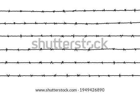 barbed wire vector fence
