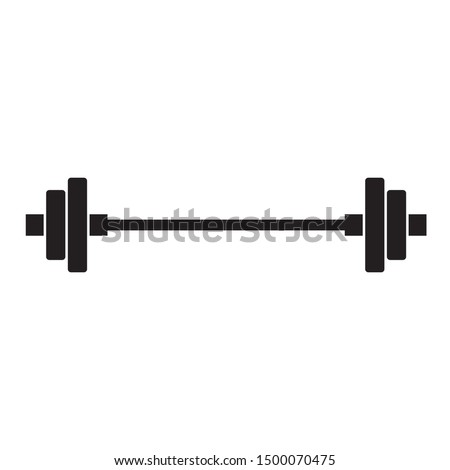 Barbel, Dumbbell Gym Icon on white background