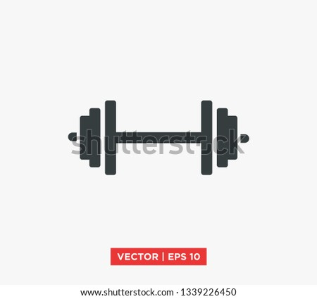 Barbell / Dumbell Gym Icon Vector Illustration