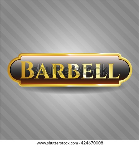 Barbell gold badge