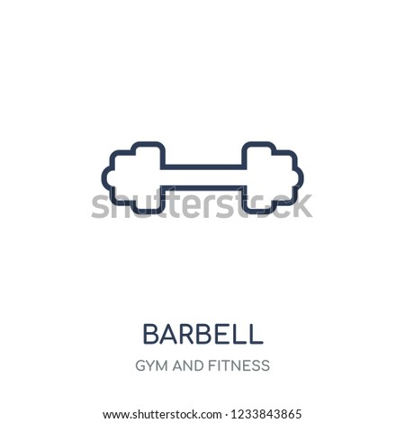 Barbell icon. Barbell linear symbol design from Gym and Fitness collection. Simple outline element vector illustration on white background