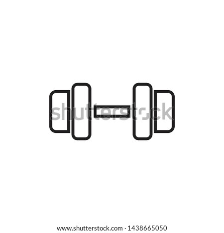 barbell icon, barbell symbol, vector.