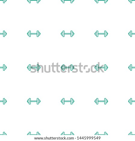 barbell icon pattern seamless white background. Editable outline barbell icon. barbell icon pattern for web and mobile.