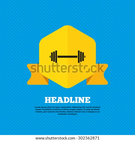 barbell sign icon muscle