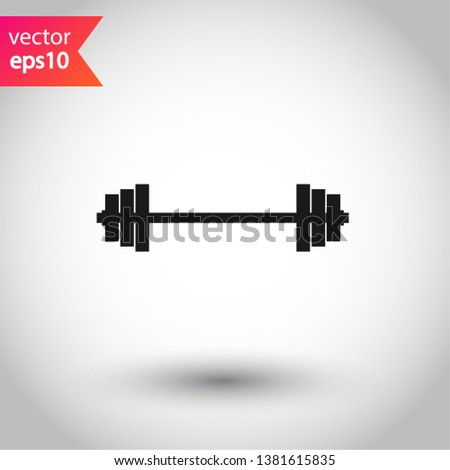Barbell vector icon. Barbell flat sign. EPS 10 symbol