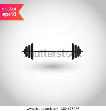 Barbell vector icon. Barbell flat sign. EPS 10 symbol. Barbell pictogram