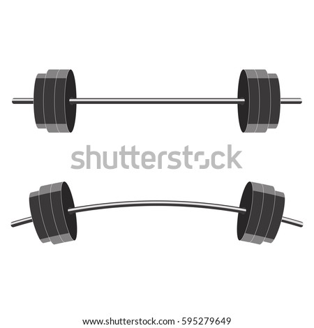 Barbells isolated on white background. Vector illustration.