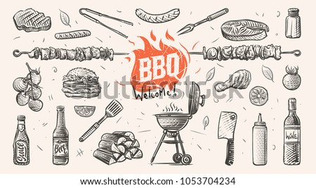 barbeque related things hand...