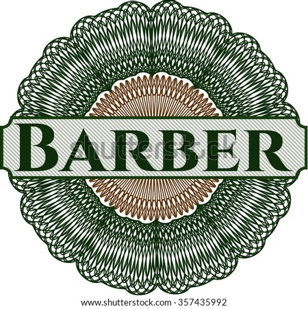 Barber abstract linear rosette