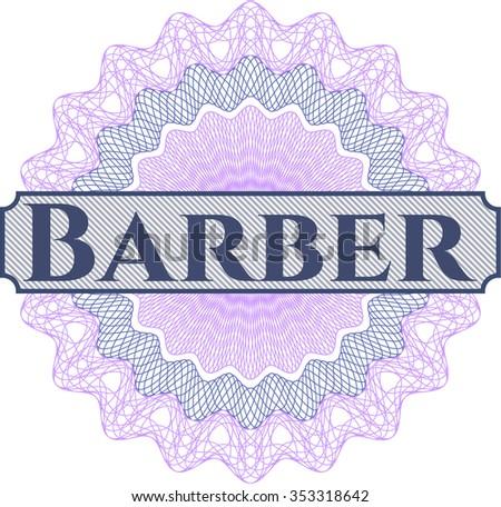 Barber abstract rosette