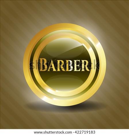 Barber golden badge