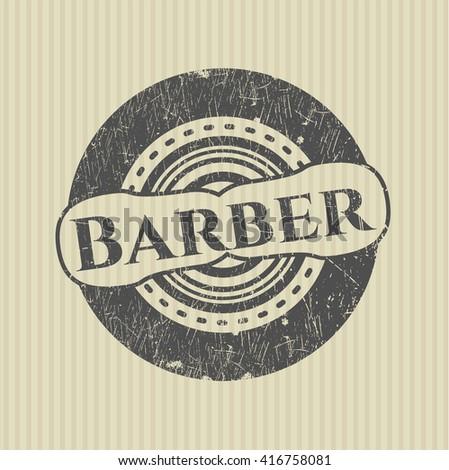 Barber grunge style stamp