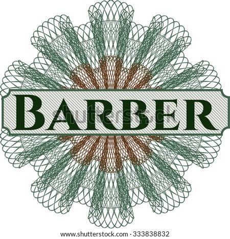 Barber linear rosette