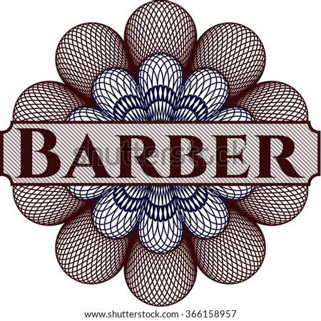 Barber money style rosette