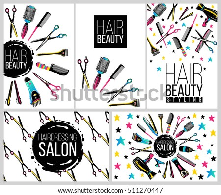 Professional Salon Tools On White Background Download Free Vector