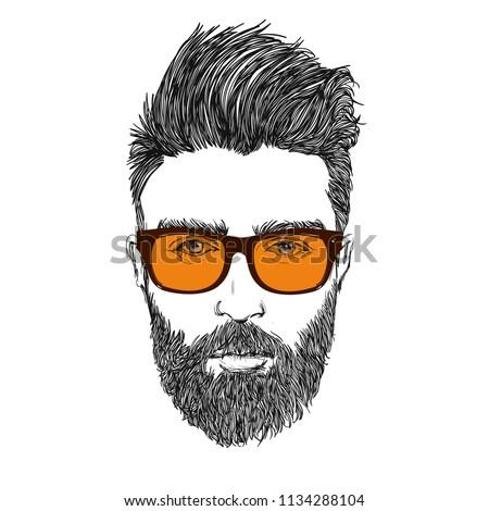 Barber Shop Icon Illustration.