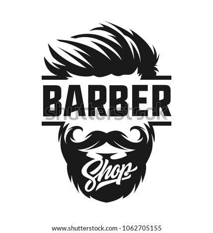 Barber Shop Logo Label Retro