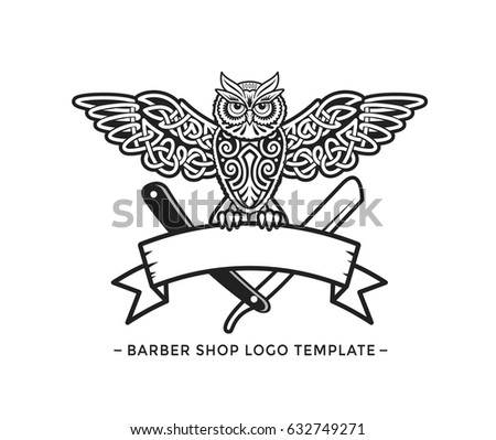 barber shop logo template - download free vector art, stock
