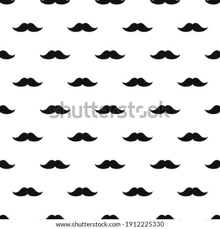 barber shop mustache vintage gentleman seamless pattern Stock foto ©
