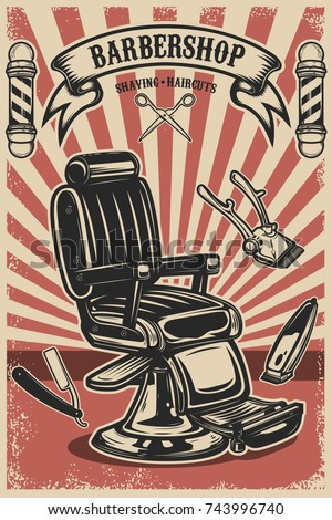 barber shop poster template....