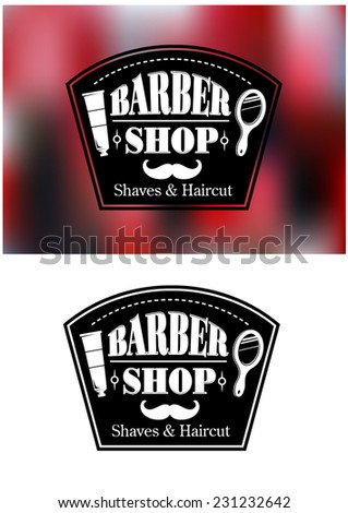 barber shop signs in vector