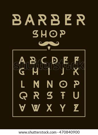 Barber Shop typeface poster.