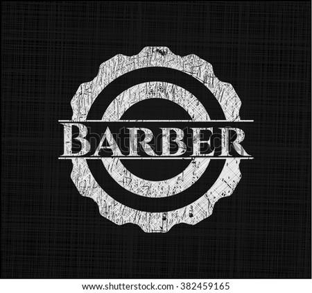 Barber written on a chalkboard