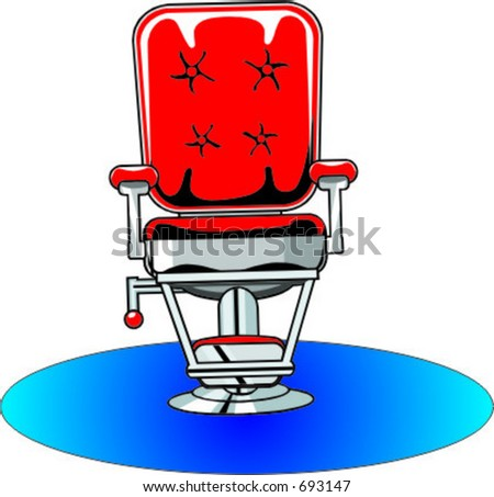 Barbers chair stock vector illustration 693147 shutterstock