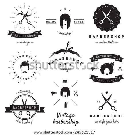barbershop  hair salon  logo...