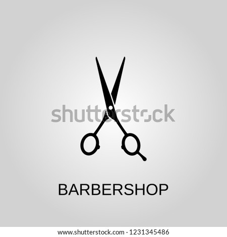 Barbershop icon. Barbershop symbol. Flat design. Stock - Vector illustration