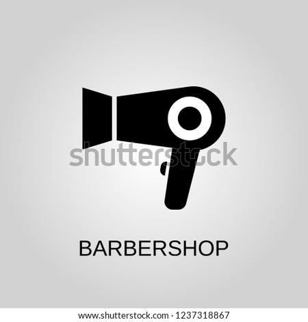 Barbershop icon. Barbershop symbol. Flat design. Stock - Vector illustration