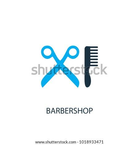 barbershop icon logo element