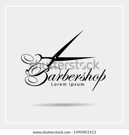 Barbershop logo design. Vector Illustration
