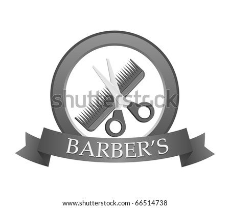 Barbershop logo. Vector illustration. - stock vector