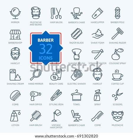 barbershop   outline web icon
