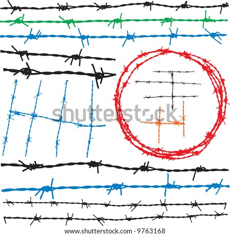 Barbwire elements