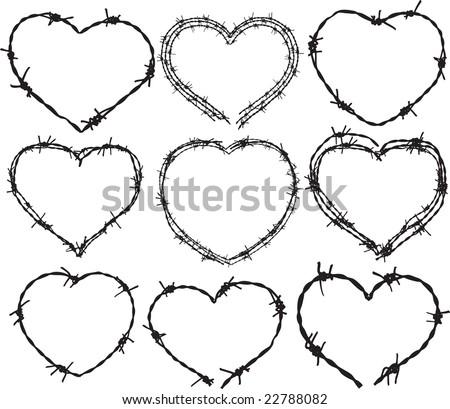 barbwire heart patterns