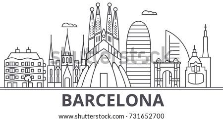 barcelona architecture line