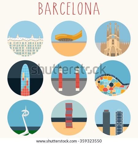 barcelona landmarks   town
