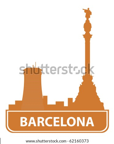 Barcelona skyline. Vector illustration for you design