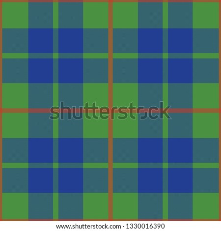 Barclay's Hunting Ancient tartan. Element for the seamless construction of a pattern for a traditional Scottish tartan of Barclays clan, seamless pattern for fabric, kilts, skirts, plaids