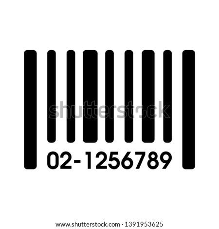 barcode icon. Barcode vector illustration