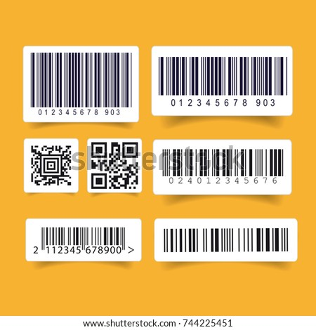 Barcode label set sticker