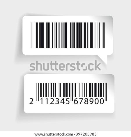Barcode labels vector set