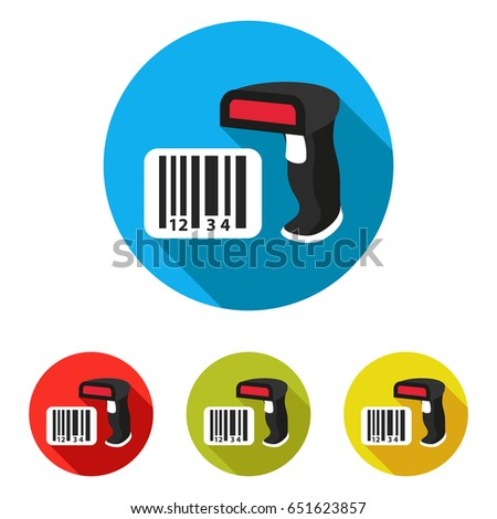 barcode scanner icon with long