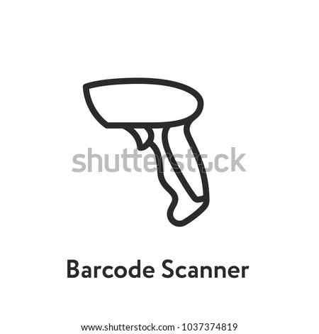 Barcode Scanner Minimal Flat Line Outline Stroke Icon