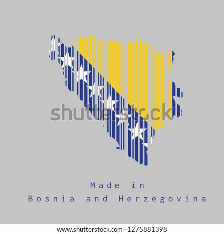 barcode set the shape to bosnia