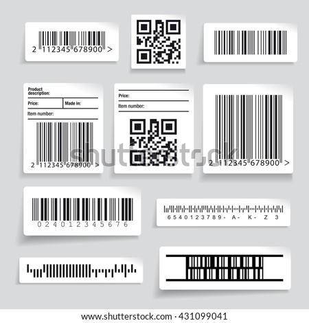 Barcode sticker set vector