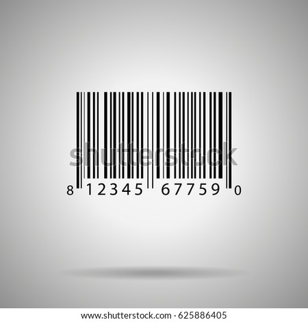 Barcode vector illustration bar code realistick icon